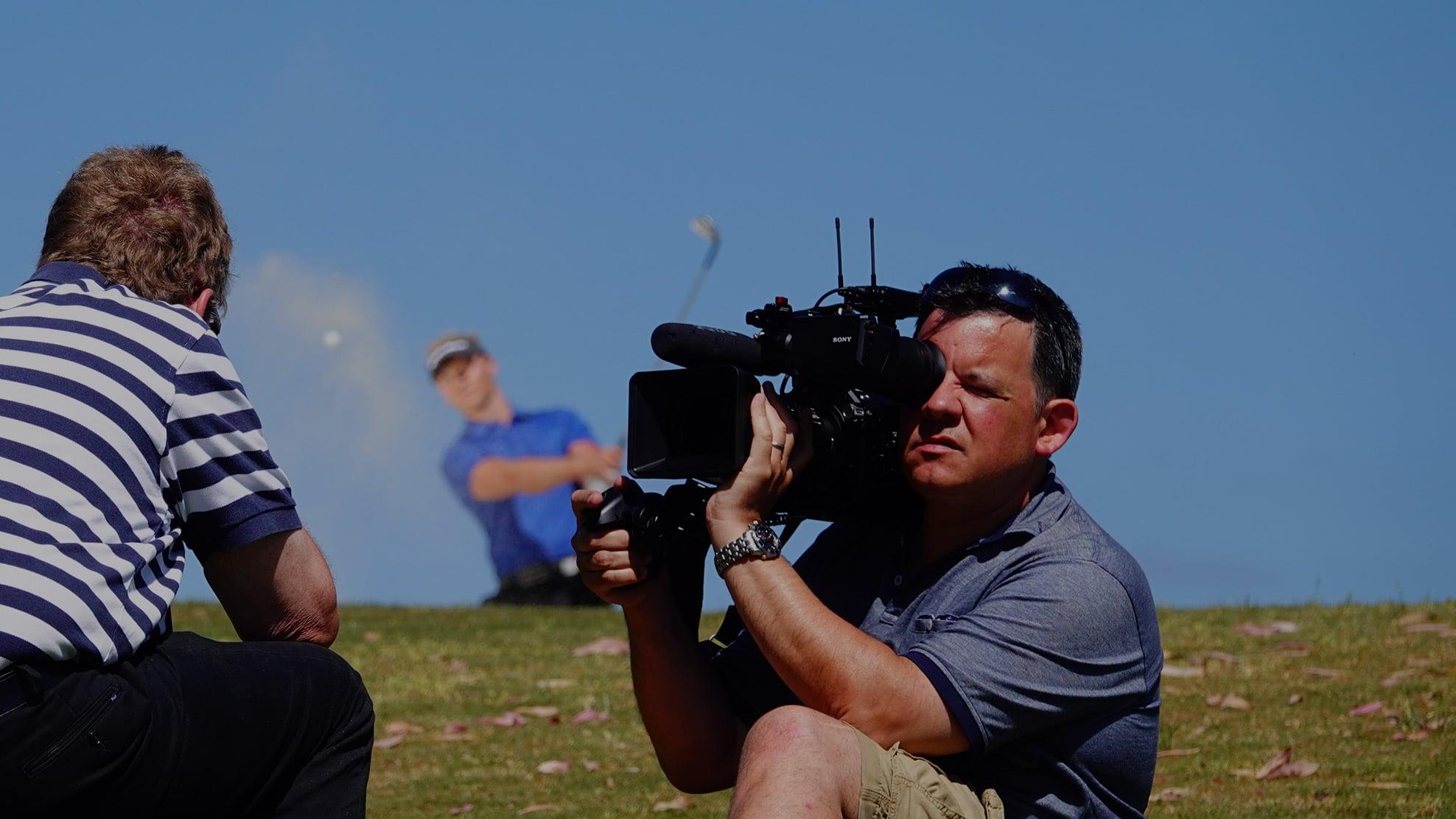 Mark behind the camera