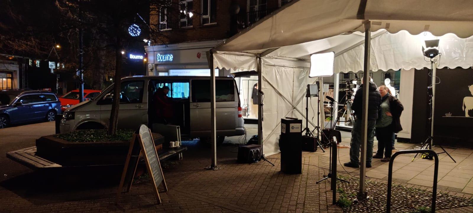 My mini OB van on set