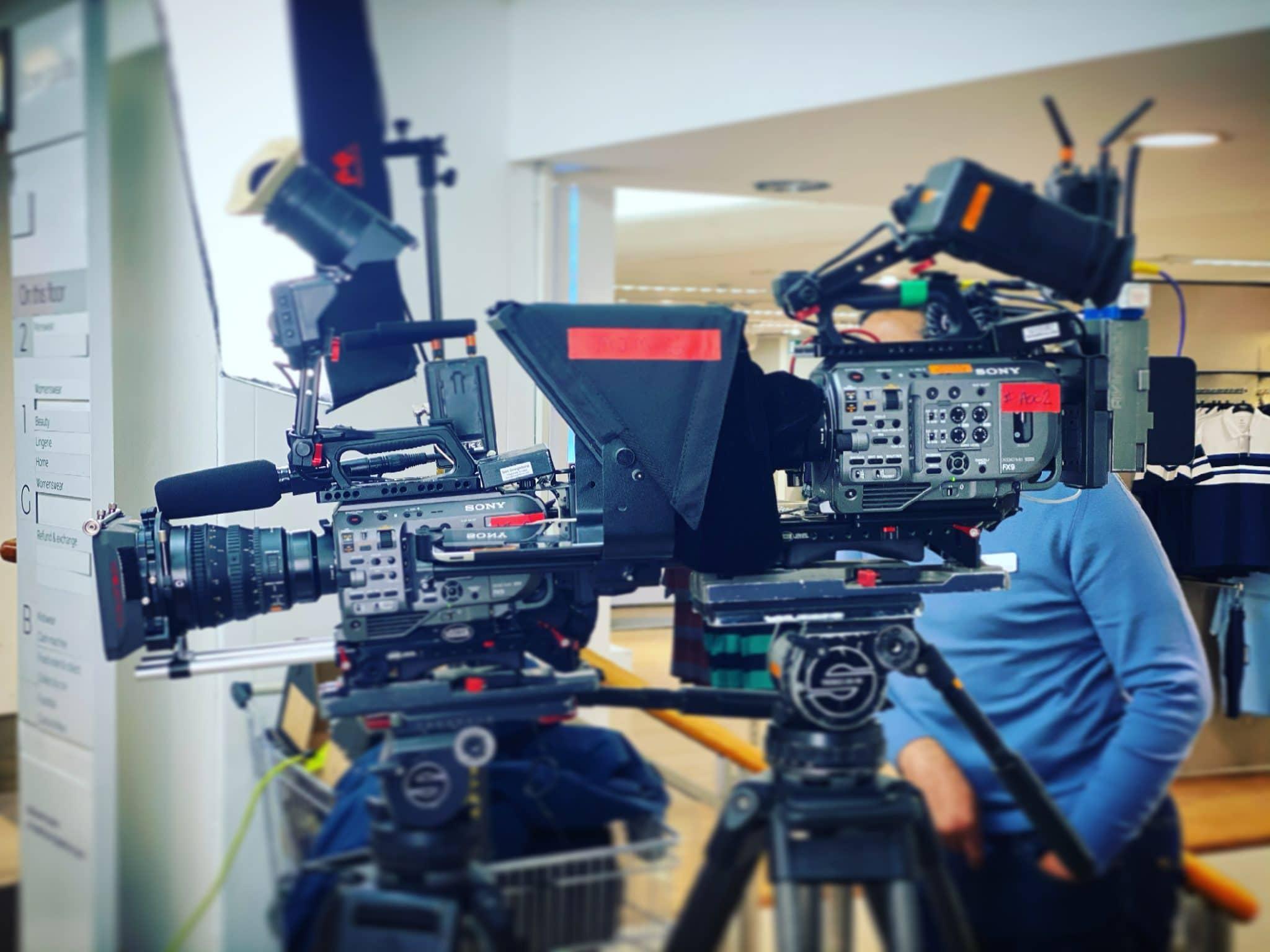 2 x Sony Fx9 cameras & autocue
