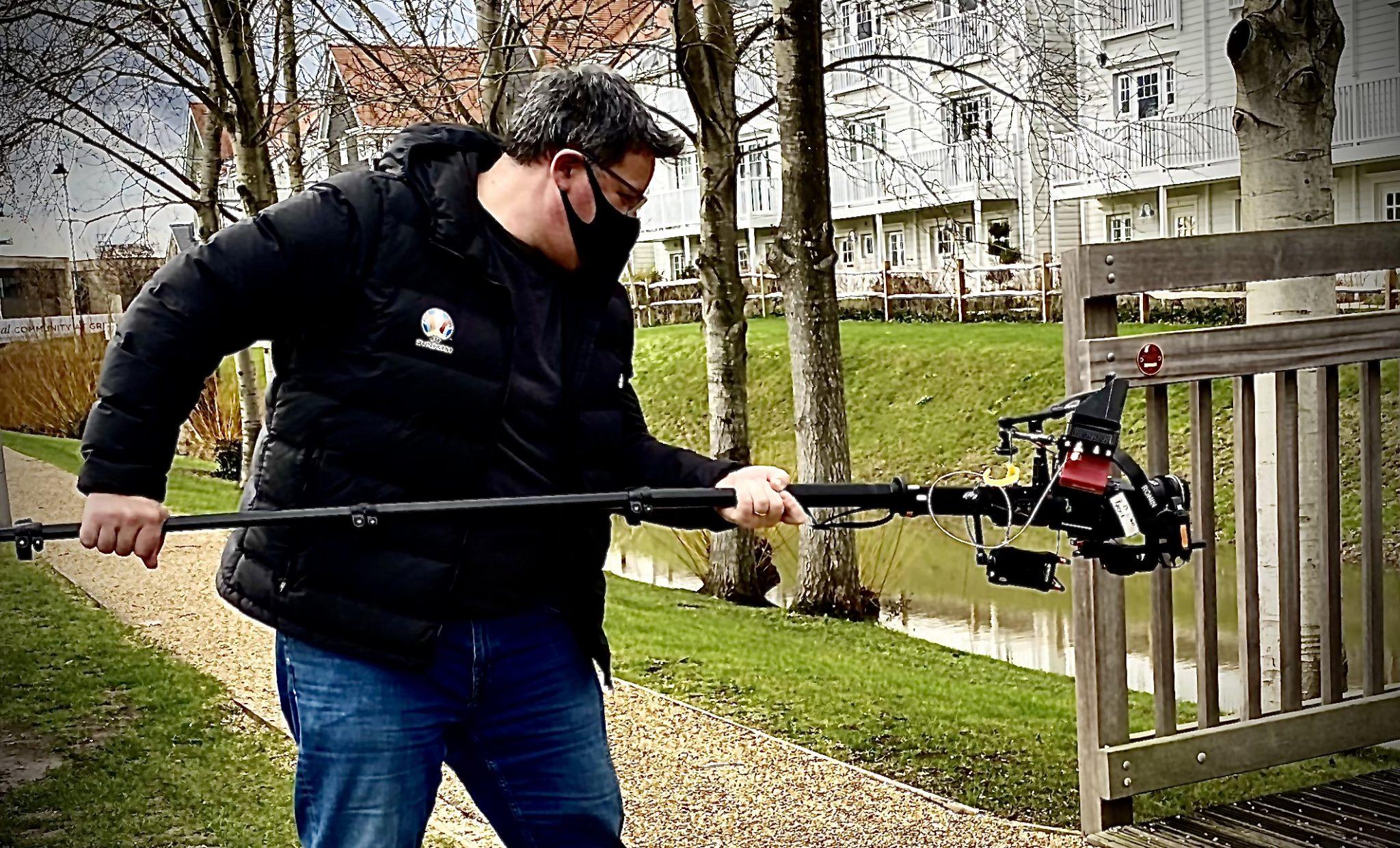 Using a Monopod & a DJI RoninS as a makeshift jib arm