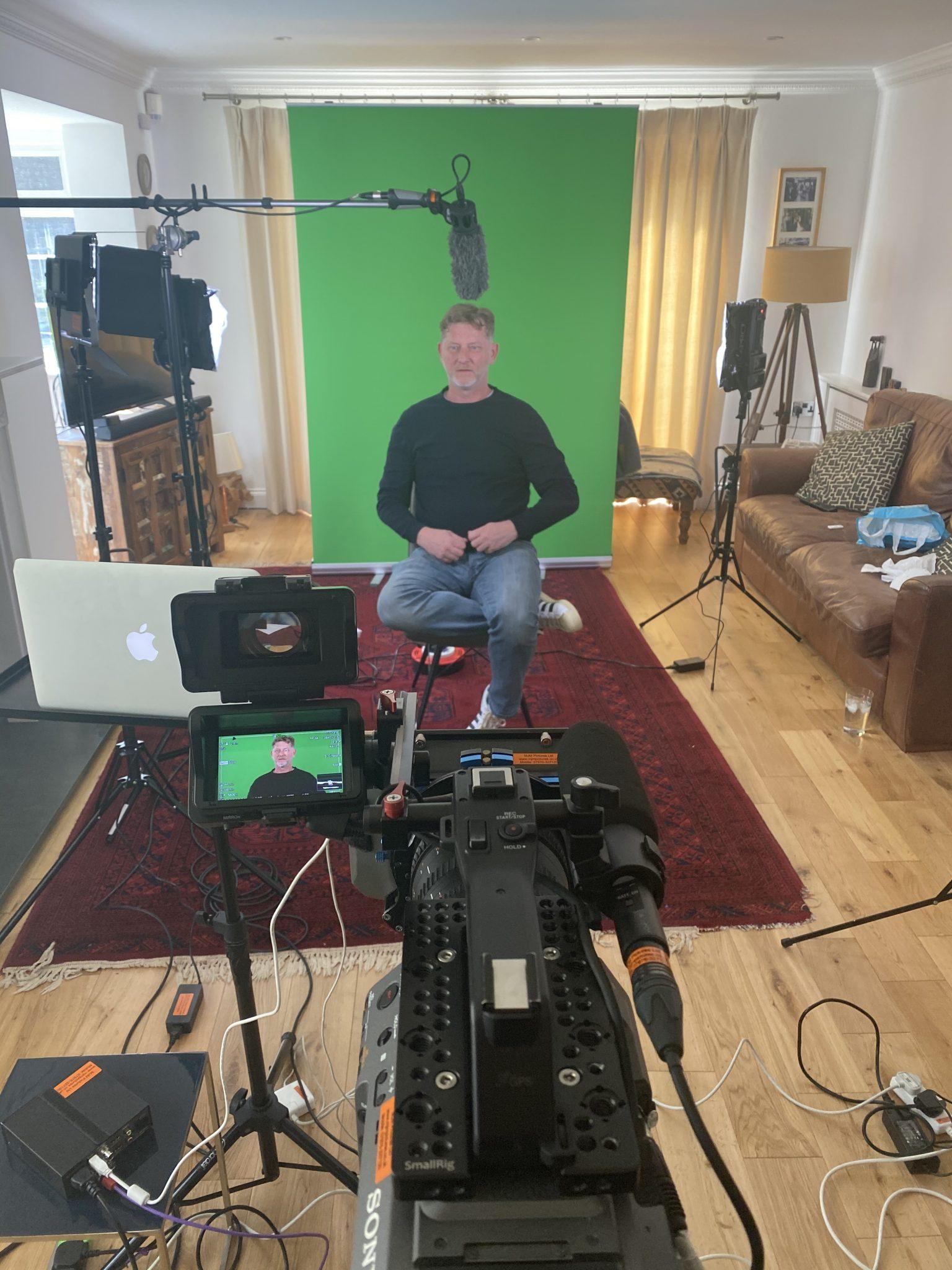 Green screen interview