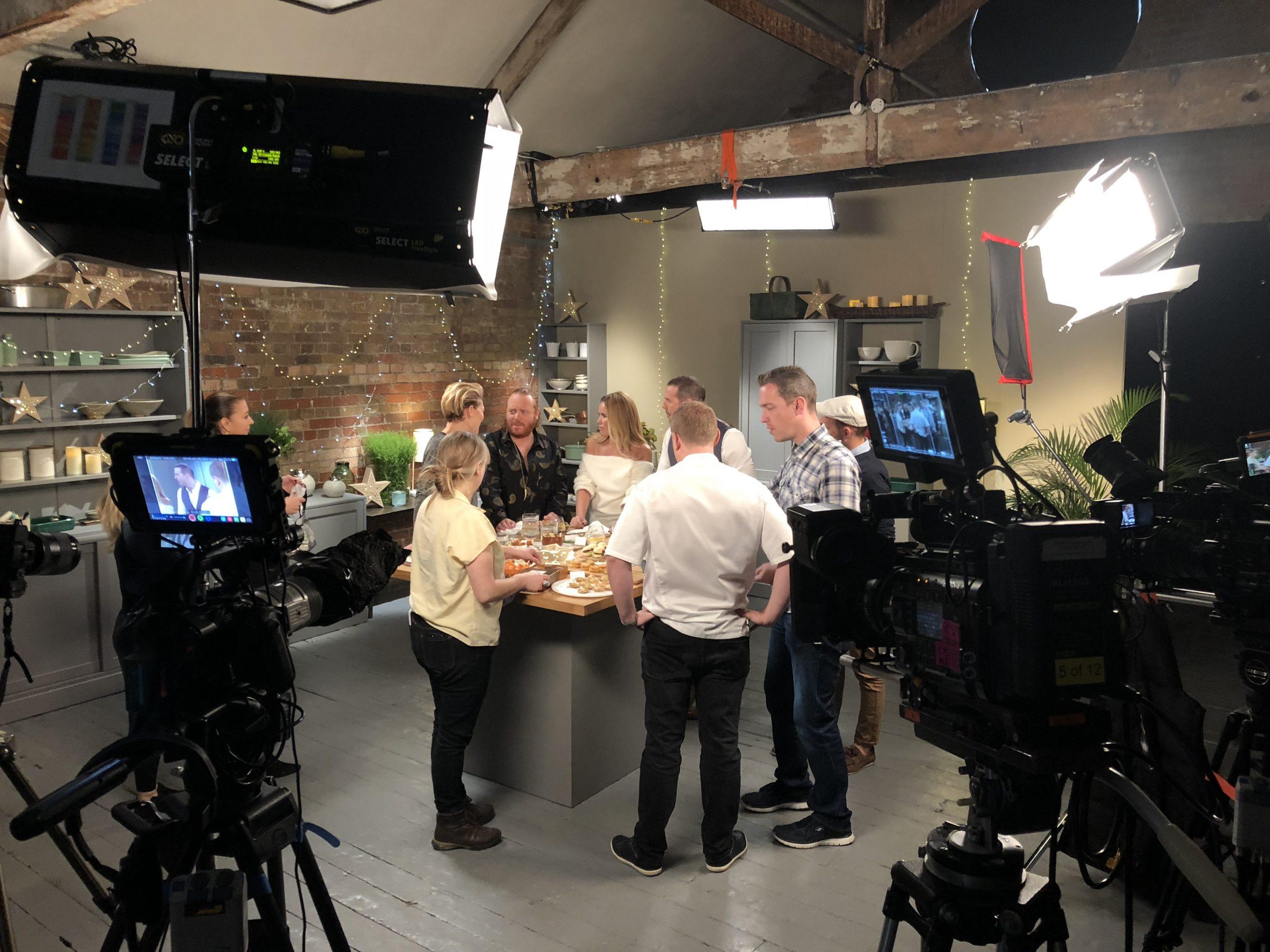 Paddy McGuiness, Amanda Holden, Keith Lemon and Emma Willis on set